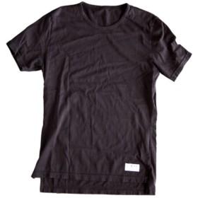 オーガニックコットン タンギス綿100% ROUND-NECKED T BLACK