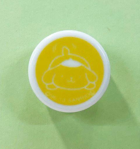 【震撼精品百貨】Pom Pom Purin 布丁狗~Sanrio旅行用空罐-黃#71806
