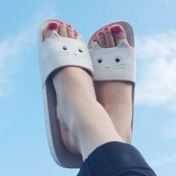 毎日一緒 かわいいキャットサンダル フェリシモ FELISSIMO【送料:450円+税】