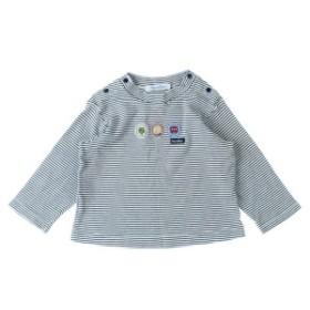 familiar  / ファミリア キッズ Tシャツ・カットソー 色:白x紺(ボーダー) サイズ:80