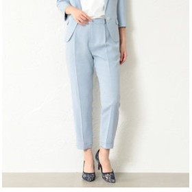 【GUILD PRIME:スーツ・ネクタイ】【LOVELESS】WOMEN リネンライクサックステーパードパンツ