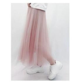 スピーガ SPIGA チュールハギロングスカート (ピンク)
