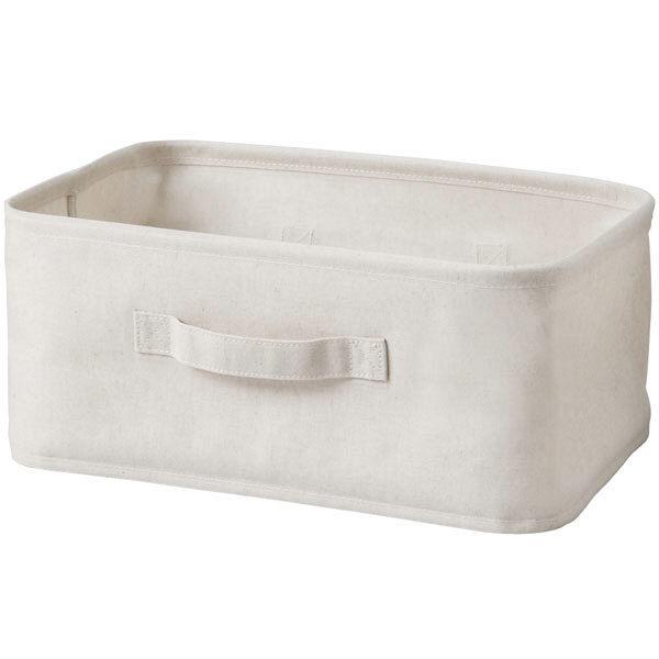 聚酯棉,亞麻混紡,置物箱,長方形和小38369752無印良品