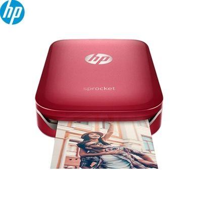★超值組合包★ HP Sprocket 口袋相印機 (艷夏紅) 送相紙20張*1 保護盒*1