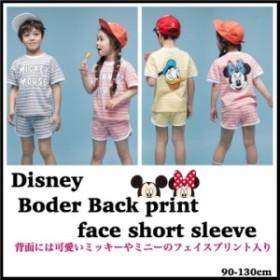 ddd296f6faa 2019夏新作 韓国子供服 Disney ボーダー柄 半袖Tシャツ上下セット ミッキー ミニー