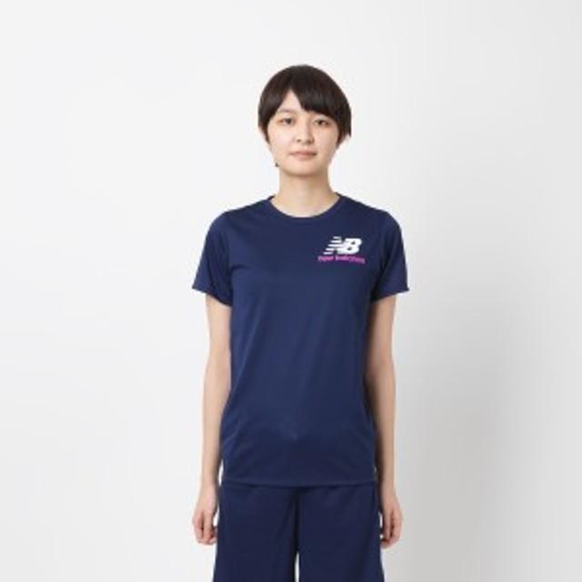 【セール】 ニューバランス レディーススポーツウェア Tシャツ S/S T スムースニット JWTP9924PGM レディース ピグメント