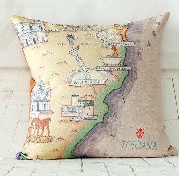旅遊地圖抱枕-RE222