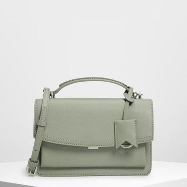スリングフラップ クロスボディ / Single Flap Crossbody Bag (Sage Green)