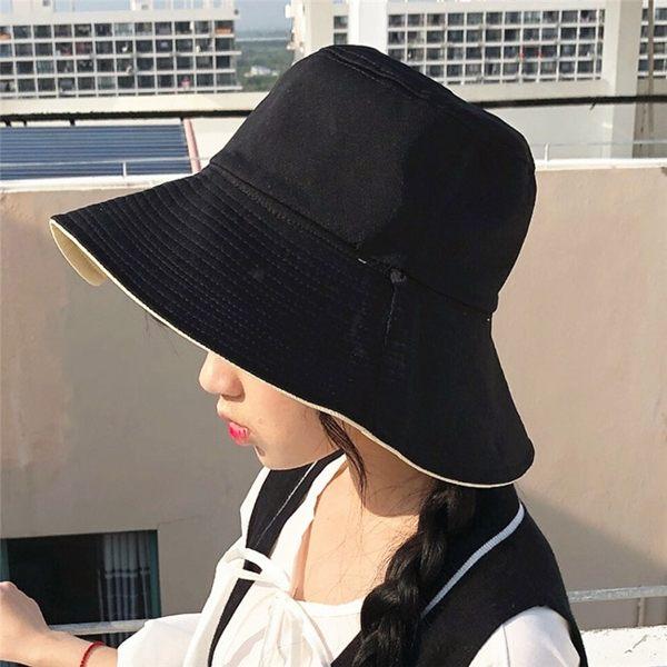 漁夫帽 素色 雙面戴 盆帽 布帽 防曬 遮陽帽 漁夫帽【NC019】 BOBI 10/11