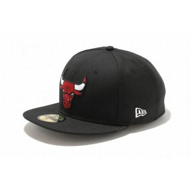 ニューエラ(NEW ERA) 59FIFTY NBA シカゴ・ブルズ ブラック×チームカラー 11308680 (Men's)