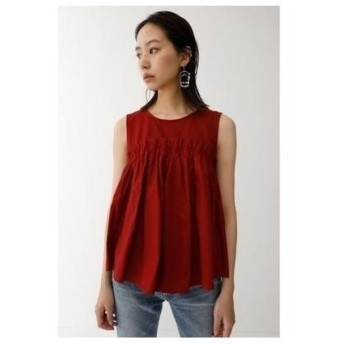 moussy SWITCHINGGATHERTOPS/ギャザートップス ボルドー
