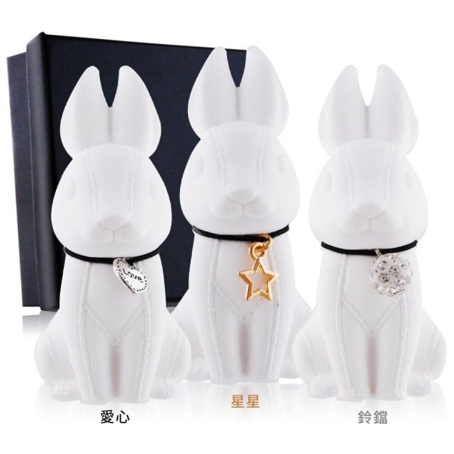 O'Pretty 歐沛媞 室內/車用 香氛擴香石擺飾-3D縫線兔(愛心)(4.2X8CM)