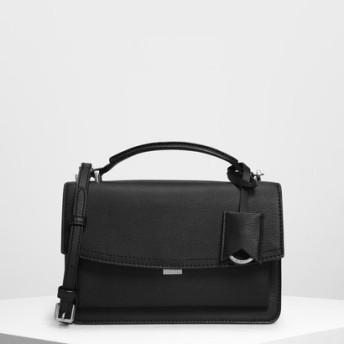 スリングフラップ クロスボディ / Single Flap Crossbody Bag (Black)