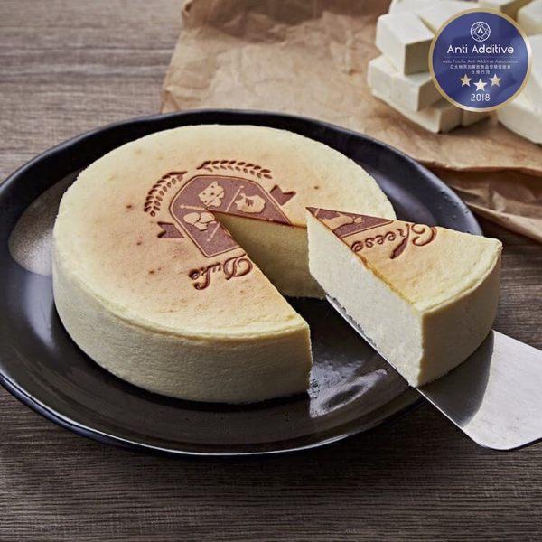 起士公爵 - 純粹原味乳酪蛋糕 6吋 -【 A.A.無添加三星認證 】