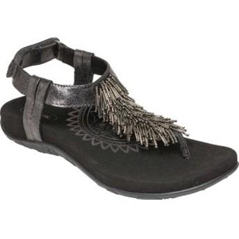 エイトレックス レディース サンダル シューズ Portia Fringe Thong Sandal Black Synthetic