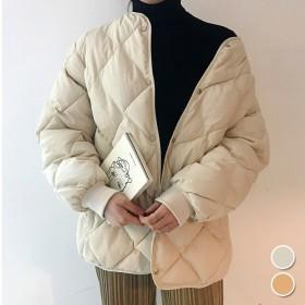 軽くて暖か♪冬の必需品!中綿コート ショート カジュアル 無地 シンプル ショート丈ダウンコート中綿ジャケット レディース