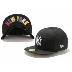 ニューエラ(NEW ERA) 59FIFTY UNDERVISOR ニューヨーク・ヤンキース ブラック×ホワイト NEW YORKマルチカラー 11308536 (Men's)