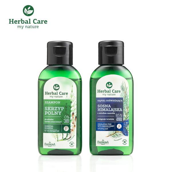 歐洲Herbal Care 波蘭植萃 - 天然草本洗髮沐浴2入旅行組 50ml