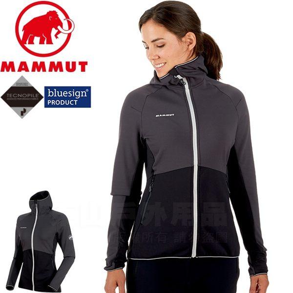 Mammut長毛象 1010-21730-00160幻影黑 女快乾連帽中層夾克 Botnica防寒保暖外套