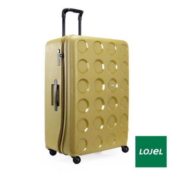 CROWN皇冠 LOJEL VITA PP材質防爆拉鍊 28分箱體超大容量 行李箱/旅行箱 32吋-橄欖綠