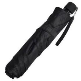 弘懋 (コウモ) スリム三つ折傘 無地 黒 型番:52cm