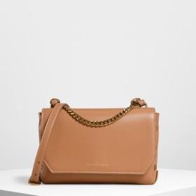 チェーンハンドル ショルダーバッグ / Chain Handle Shoulder Bag (Tan)