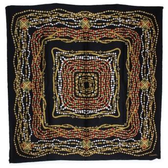 シャネル スカーフ シルク100% ブラック 黒(中古)