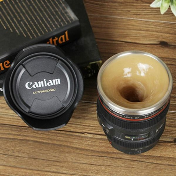 自動攪 懶人自動攪拌杯鏡頭咖啡奶茶杯創意電動搖搖馬克杯子不銹鋼水杯