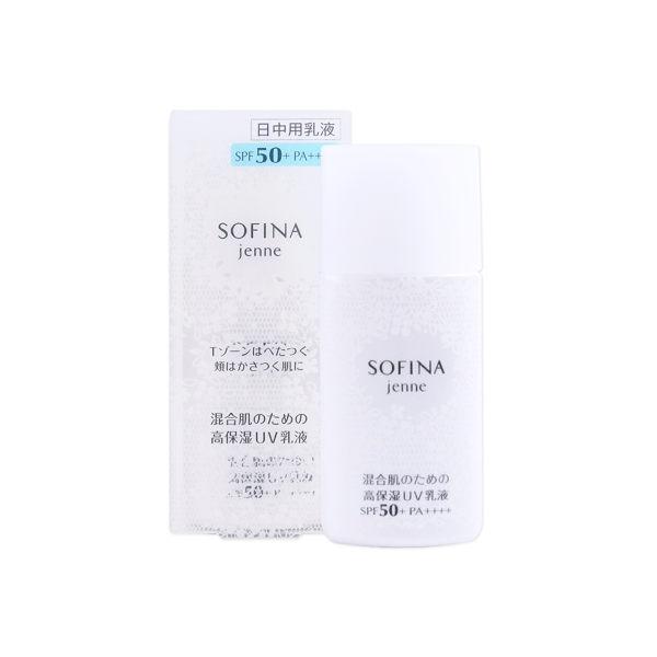 日本 SOFINA 蘇菲娜 Jenne 透美顏飽水控油雙效日間防護乳 SPF50+ PA+++ 30mL ◆86小舖 ◆ 混合肌適用