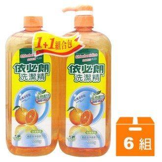 依必朗 洗潔精-柑橘 (1+1組合包) 1000g (6組)/箱【康鄰超市】