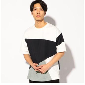 【メンズビギ:トップス】ポンチ切替BIGTシャツ