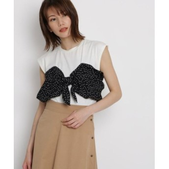 (AG by aquagirl/AG バイ アクアガール)リボンドッキングシャツ/レディース オフホワイト(503)