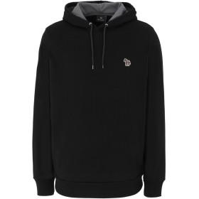 《期間限定セール開催中!》PS PAUL SMITH メンズ スウェットシャツ ブラック S オーガニックコットン 100% MENS REG FIT LS HOODY