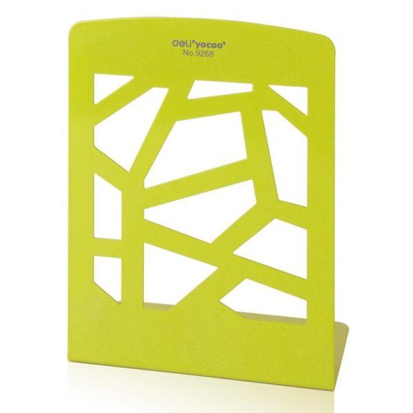 得力文具9268書立學生圖書擋板金屬閱讀書立書檔書靠桌面書架簡易