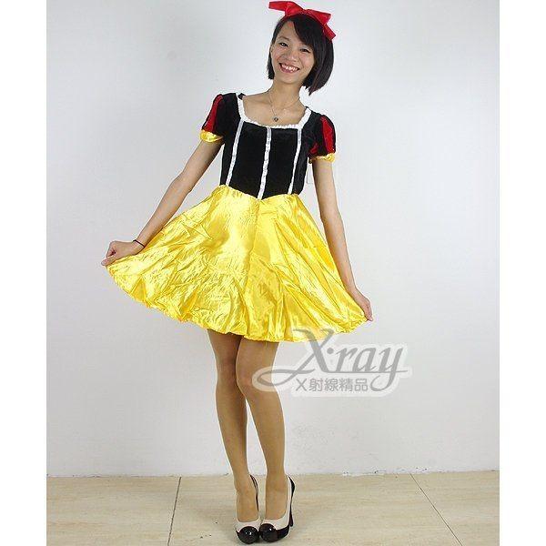 俏麗白雪皇后(黃藍色),角色扮演/尾牙表演/萬聖節/聖誕節/變裝派對/迪士尼,X射線【W904805】