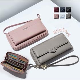 レディース 長財布 ブレスレット付き携帯も収納できるギガウォレット 写真ポケット 10個カードポケット 小銭とレシートパッと分ける財布クォリティ