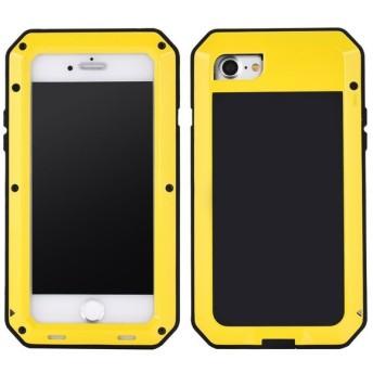 iPhone8 ケース アルミ合金 カバー iPhone 8 ケース 頑丈 ガラスフィルム付 軍用 耐衝撃 全周囲保護 カメラレンズ保護 iPhone8ケース ワイヤレス充電対応 4.7