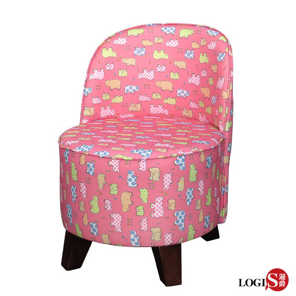 • 3M印花布防蹣抗菌防潑水n•實木塑膠椅腳n•矮凳+工學設計弧度椅背