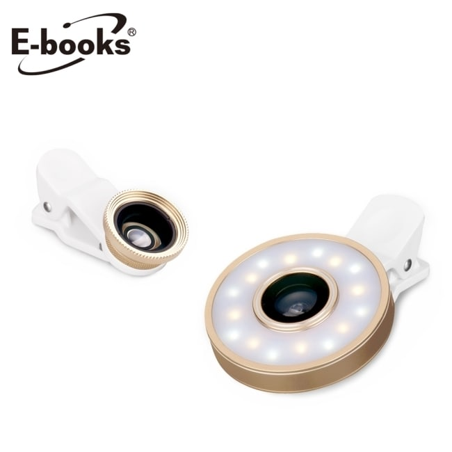 E-books N42 LED美顏自拍補光燈鏡頭組