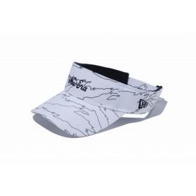 【ニューエラ公式】 ゴルフ サンバイザー タイガーストライプラインカモ ホワイト/ブラック ミニNew Eraオールドロゴ メンズ レディース 55.8 - 59.6cm キャップ 帽子 12119305 NEW ERA