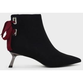 スラントヒール アンクルブーツ / Slant Heel Ankle Boots (Black)