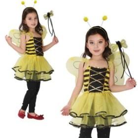 ハロウィン 衣装 キッズ 子供 コスプレ 魔法使い みつばち ミツバチ ワンピース 子供 女の子 コスチューム 妖精 魔女 パーティー イベン