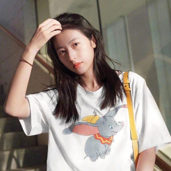 超火cec短袖小飛象t恤女夏裝2019新款上衣潮韓版寬鬆網紅同款衣服 LOLITA