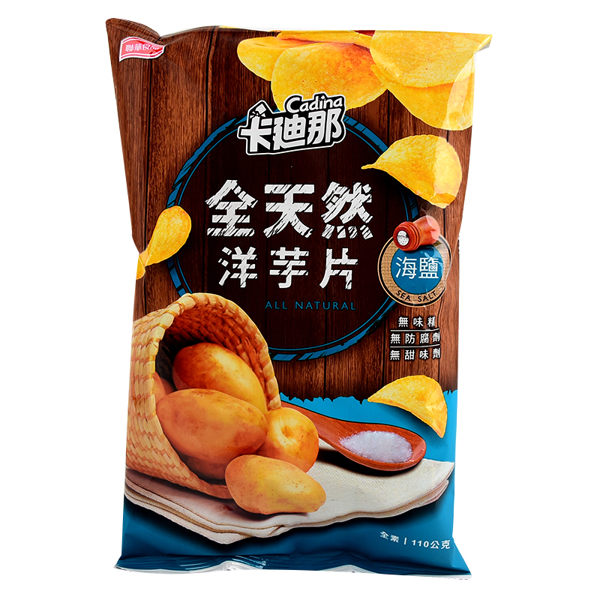 卡迪那全天然洋芋片-海鹽82g*12包/箱【合迷雅超級好物】