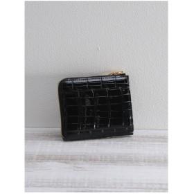 ミーノ mieno [mieno]クロコダイルレザーミニ財布 (ブラック)