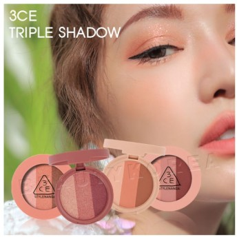 [2019 NEW COLOR] 3CE TRIPLE SHADOW 3CE トリプル シャドウ #BURNT PEACH#OVERSTAY#GO OVER#RIGHT AROUND