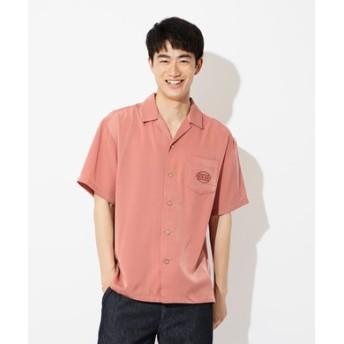 Other 刺繍オープンカラーシャツ メンズ ピンク