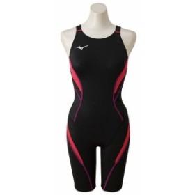 【送料無料】 ミズノ スイミング レディース競泳 ATVハーフスーツ(オープン) N2MG824096 レディース ブラック×ピンク