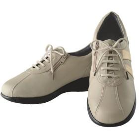 高井さんの靴5E牛革軽量コンフォートシューズ - セシール ■カラー:ベージュ ■サイズ:24cm