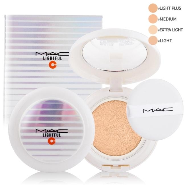 M.A.C 亮白C氣墊粉餅SPF50/PA++++(12g) #LIGHT PLUS-贈專櫃試用包(隨機出貨)X1